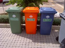 Colcle Binsour Coded Recycle Bins