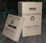 Boxes for paper recycling